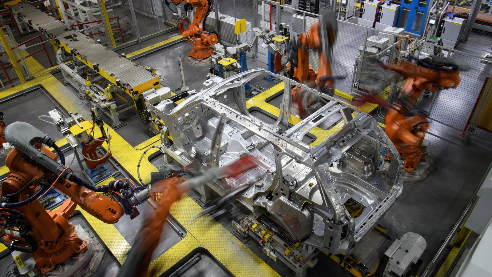 Making Climate Friendly Cars Material Considerations By Simone Wiring Harness Manufacturers In Uk Robotic Systems Work On The Chassis Of A Car During An Automated Stage Production At Jaguar Land Rover Factory Solihull England